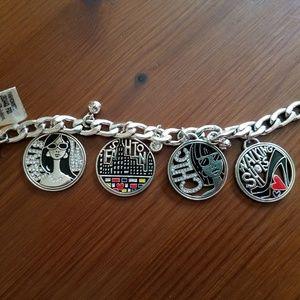 "Brighton Jewelry - Brighton ""Fashionista"" Charm Bracelet"
